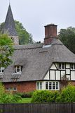 Thatched English Village Cottage Royalty Free Stock Photo