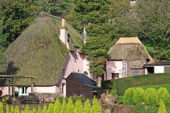 Thatched Häuser Lizenzfreie Stockfotos