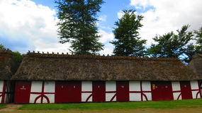 Thatched and half timbered stables Stock Image