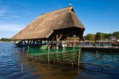 Thatched Haus Lizenzfreies Stockfoto
