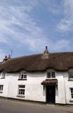 A Thatched House. In Cornwall stock photo