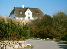 Thatched house. Sylt, Germany Royalty Free Stock Photo