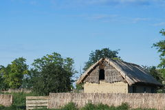 Thatched House. In Dobruja Romania Royalty Free Stock Photo