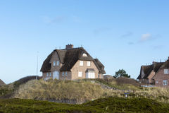 Thatched house in Sylt, Germany Royalty Free Stock Image