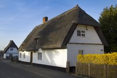 Thatched houses Royalty Free Stock Photo