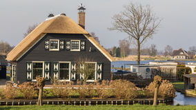 Thatched houses in Belt Schutsloo Giethoorn Stock Images