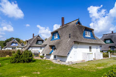 Thatched houses on the island of Usedom Stock Photos