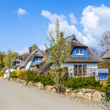 Thatched houses on the island of Usedom. At the Baltic Sea Stock Image