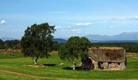 thatched hustak Arkivbild