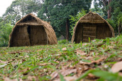 thatched hustak Arkivfoto