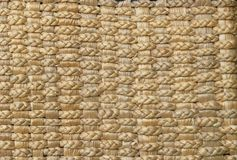 Thatched Matten-Hintergrund Stockfotos