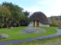 Thatched Modern Design House Cottage Ireland. Thatched Modern Design House Cottage in Adare Ireland royalty free stock images
