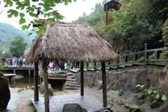 A little thatch pavilion Royalty Free Stock Images