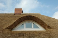 Thatched Roof. Typical thached roof of a house near the Baltic Sea Royalty Free Stock Image