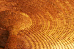 Thatched roof. A circle Leaves Thatched roof royalty free stock photos