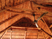 Thatched roof. Thatched house roof traditional style Royalty Free Stock Images