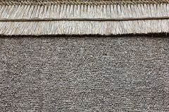 Thatched roof background. Thatched roof of an old Hungarian house stock image