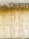 Thatched roof and bamboo wall Stock Image