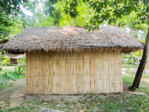 Thatched roof and bamboo wall Royalty Free Stock Photo