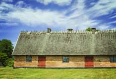 Thatched roof barn Stock Photography
