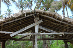 A thatched-roof beach hut Stock Photography