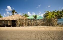 Thatched roof buiilding corn island nicaragua Stock Photography
