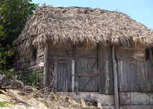 Thatched Roof Building In Cuba Royalty Free Stock Photo