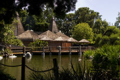 Free Thatched Roof Building In The Jungle Wilderness Royalty Free Stock Photo - 32288485