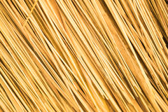 Thatched roof. Closeup background texture Royalty Free Stock Photo