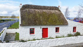 Thatched roof cottage Co Kerry Ireland Stock Photography