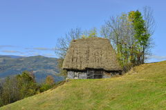 Thatched roof country house in Romania Royalty Free Stock Image