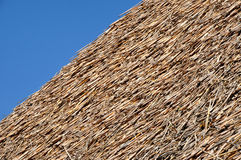 Thatched roof detail Royalty Free Stock Images