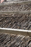 Thatched roof detail to rural house Royalty Free Stock Photo