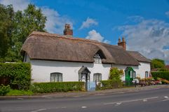 Thatched Roof English Cottage Royalty Free Stock Photo