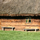 Thatched roof house Stock Image