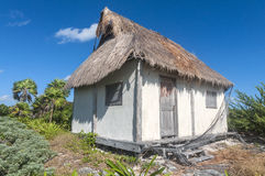Thatched roof house royalty free stock photography