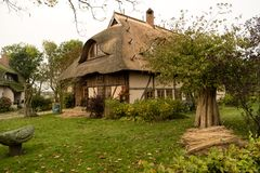 Thatched Roof House on Fischland Stock Image