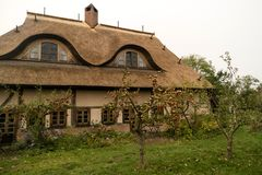 Thatched Roof House on Fischland Stock Photography
