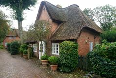 Thatched-roof House on Foehr Island Royalty Free Stock Photo