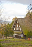 Thatched roof house Stock Photo