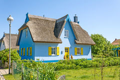 Thatched-roof house Royalty Free Stock Images