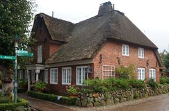 Thatched-roof House On Foehr Island Royalty Free Stock Photos