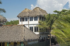 Thatched Roof Jungle Residence Royalty Free Stock Images