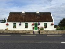 Thatched Roof Roadside Cottage Royalty Free Stock Image