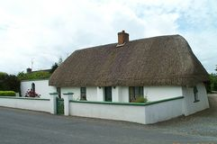 Thatched Roof in Scotland Royalty Free Stock Images