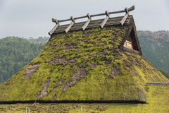 Thatched rooftop. In Historical village Miyama in Kyoto, Japan stock photos