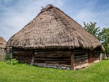 thatched stuga Royaltyfri Fotografi