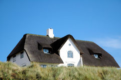 thatched tak för 2 hus Arkivfoton