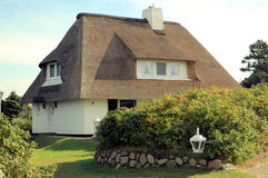 thatched tak house5 arkivbild