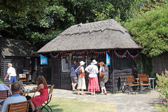 Thatched tea hut Royalty Free Stock Images